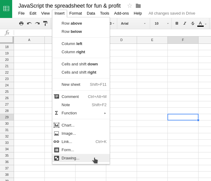 JavaScript the spreadsheet for fun & profit